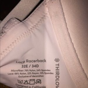 ba23b54f6e thirdlove Intimates   Sleepwear - Thirdlove pink bra lace bralette front  clasp ...